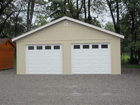 Custom 2 Car Garage by 24 X24 Two Car Garage Custom Built Garages Sales Prices