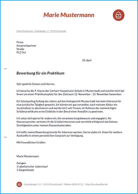 Bewerbung Deckblatt Schulerpraktikum 4 bewerbung sch 252 lerpraktikum rechnungsvorlage
