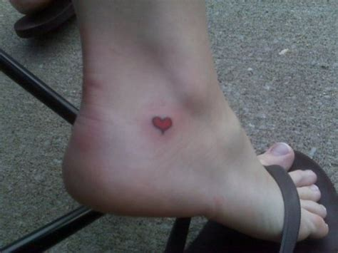 heartbeat tattoo on ankle heart tattoo on foot tattoo picture at checkoutmyink com