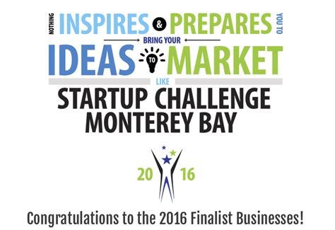startup challenge finalists announced for startup challenge monterey bay