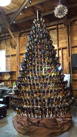 christmas tree made from wine bottles tree made with wine bottles picture of dunham cellars walla walla