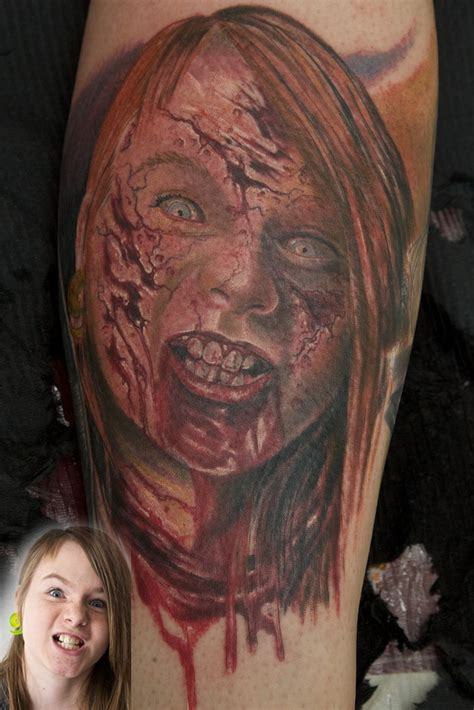 zombie tattoo on leg by graynd tattooimages biz tattoo zombie by graynd tattooimages biz