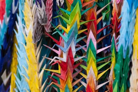 Folding 1000 Paper Cranes - a design insight the history of paper folding floris