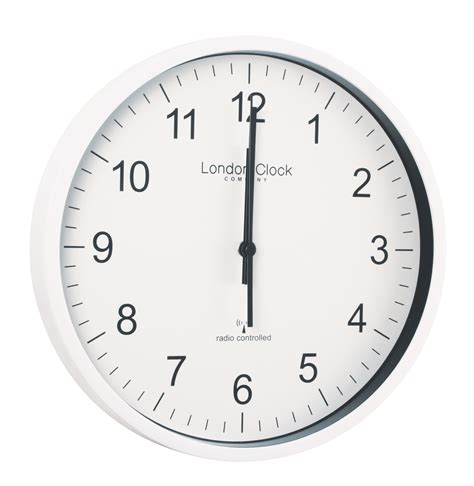 simple wall clock london clock company radio controlled white msf atomic