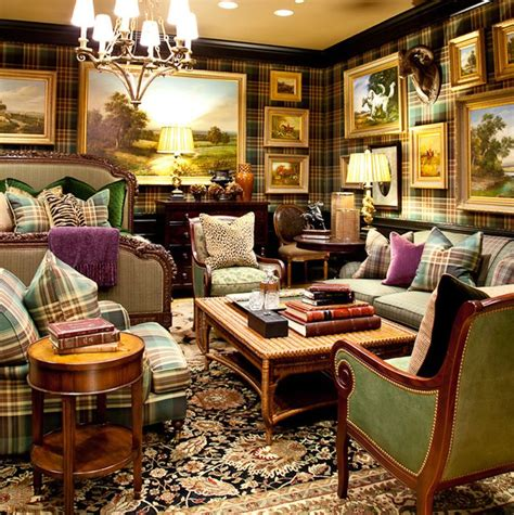 Home Decorating On by Eye For Design Decorating With Plaid Covered Walls