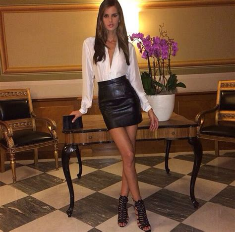blouse leather and skirts on