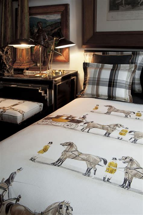 Equestrian Bedroom Decor by Equestrian Style Sally White Designs