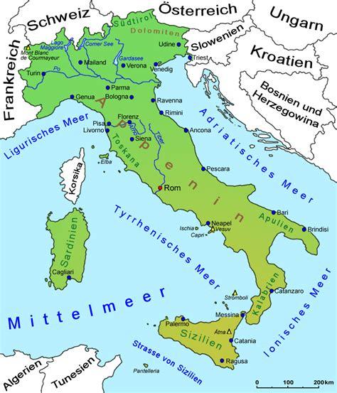 Karte Deutschland Italien by Landkarte Italien Deutschland Images