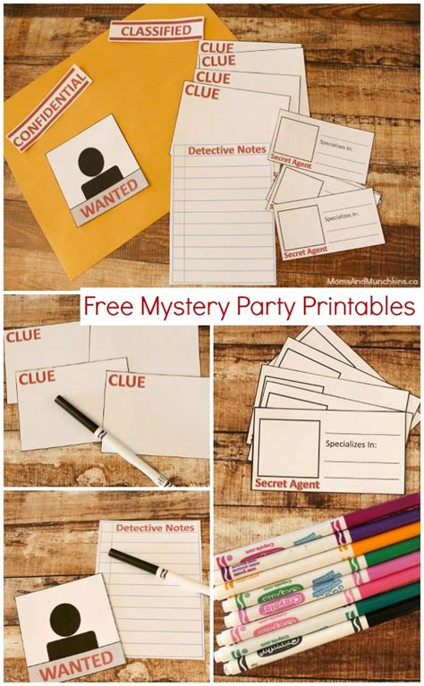 printable detective games mystery party printables free moms munchkins