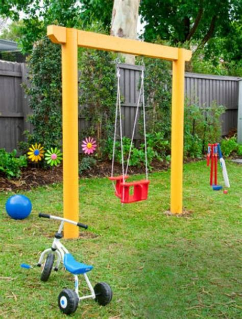 homemade swing sets build homemade swing set woodworking projects plans