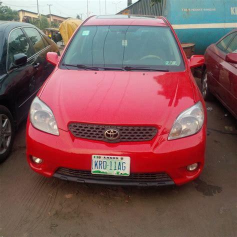 2006 Toyota Matrix For Sale 2006 Toyota Matrix Registered For Sale Autos Nigeria