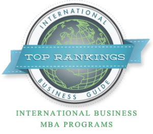 Best International Mba Programs In Usa by Top 10 International Business Mba Programs International