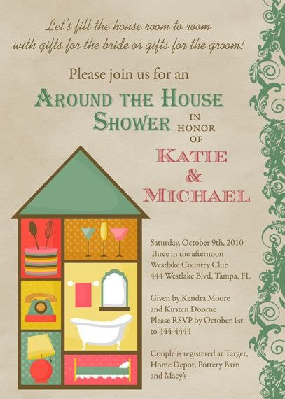 Around The House Bridal Shower by Around The House Bridal Shower Invitations By Shutterbugsentiments Showers And