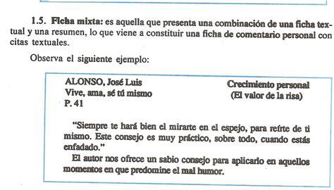 5 Resumenes De Libros Cortos by E B El Ingenio 1er A 209 O Ejemplo De Ficha Resumen Y