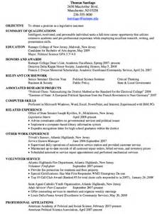 Legislative Assistant Cover Letter by Sle Of Legislative Assistant Resume Resumes Design