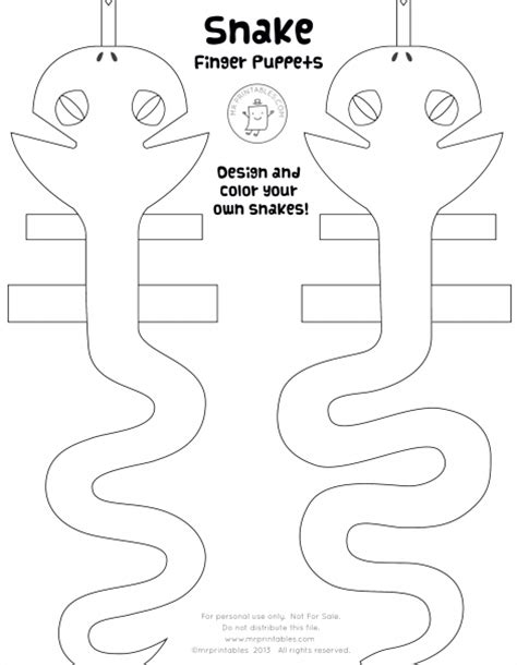 snake puppet template free coloring pages of family finger puppets