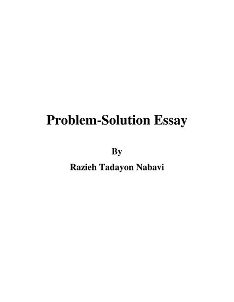 problem solution essay sle problem solution essay sles exles 28 images topic for