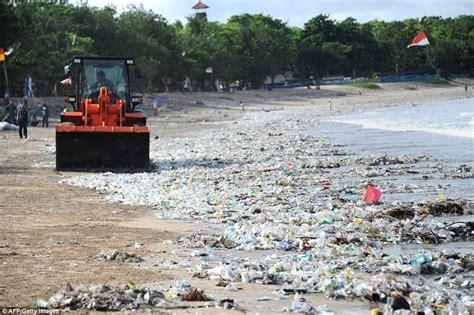 balis beaches disappearing   garbage mountain