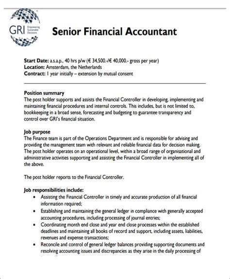 senior accountant resume sle pdf 26 accountant resume formats sle templates
