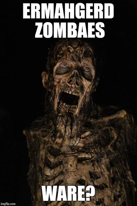 ermahgerd zombaes imgflip
