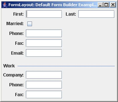 form layout exles html techtrony formlayout default form builder exle 1