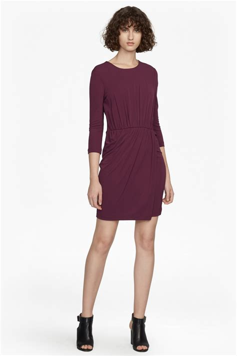 Dress Jersy elsa sleeved draped jersey dress collections