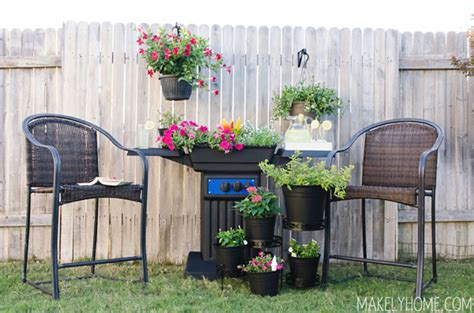Glowing Chairs Make For Great Late Barbecues by Diy Planter Made From An Upcycled Bbq Grill