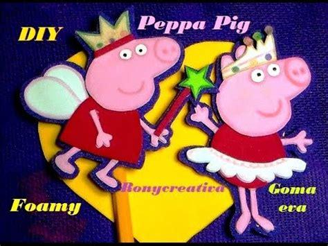 como hacer una pepa pig c 243 mo hacer a peppa pig en foamy o goma lapiz y libreta ronycreativa