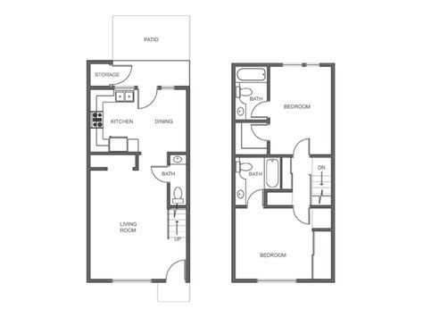 2 Story Apartment Plans by Floor Plans Of Our Spacious Rental Apartment Homes In
