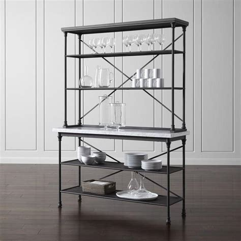 Modern Kitchen Bakers Rack by Black Kitchen Bakers Rack With Hutch
