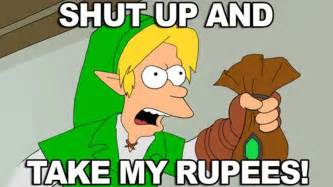 Take All My Money Meme - nintendo direct november 2015 reaction shut up and take