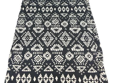 printed knit fabric tribal printed knit jersey fabric black and custard 3 4 yard