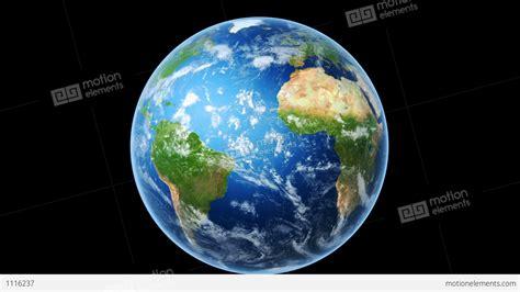 realistic world map wraps  globe loop  black stock