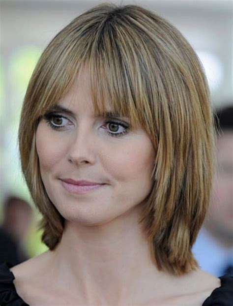 normal people medium to short hair styles medium short hairstyles with bangs women medium haircut