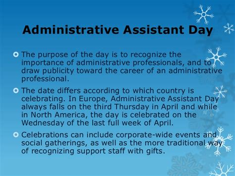 which day is administrative assistant tips