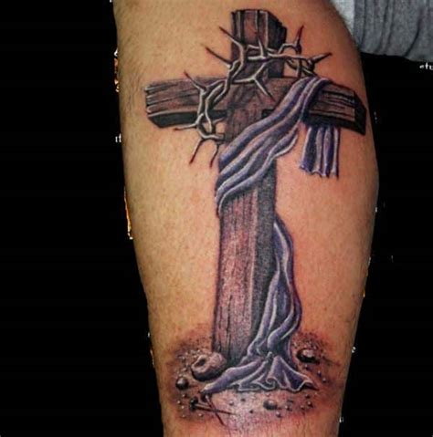cross tattoo on leg cross tattoos for guys ideas and designs for