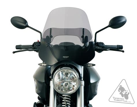 Windshield Universal mra varioscreen vnb universal motorcycle windshield clear or smoke twistedthrottle