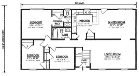 bi level house floor plans b162132 1 by hallmark homes bi level floorplan