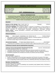 medical representative resume sample resume writing service