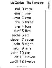 printable german numbers german word book to print numbers enchantedlearning com