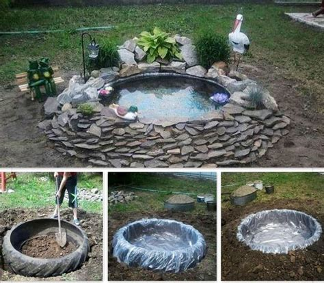 Diy Little Pond Out Of A Old Tractor Tire Diy Tire Garden Ideas