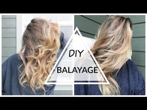 diy ombre a no kit how to for subtle seamless colour diy balayage ombr 233 hair at home youtube