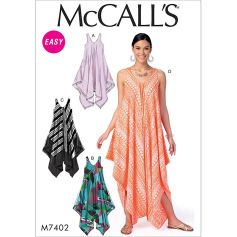 sewing pattern jumpsuit uk misses dresses and jumpsuit mccalls sewing pattern 7402
