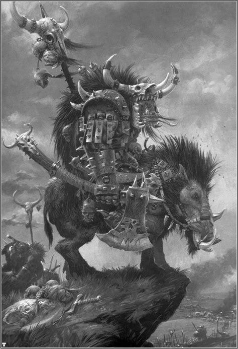Orc Boss On Boar, par Adrian Smith, in Warhammer Battle 6e