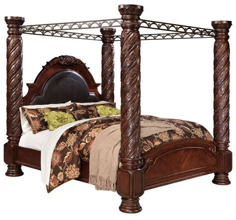 north shore bedroom collection north shore poster canopy bedroom set from ashley b553