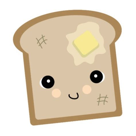 imagenes de tostadas kawaii cute kawaii toast photo cutout zazzle