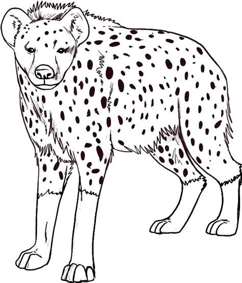 hyena coloring pages 1 speech pinterest coloring