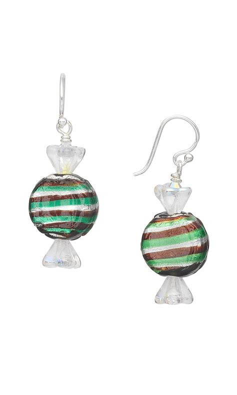glass bead jewelry patterns jewelry design earrings with silver foil glass