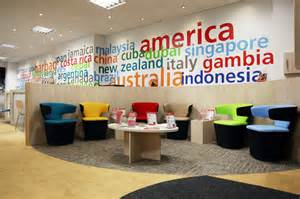 brio corporate office modern colorful trendy travel agency office interior
