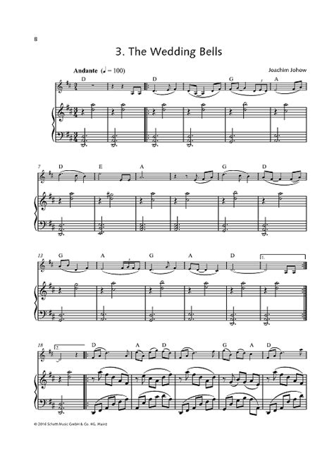 Wedding Bell Piano Sheet by The Wedding Bells Sheet For Piano And More